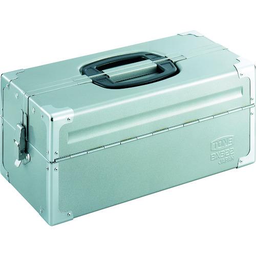 取寄 両開きケースタイプ BX322SV BX322SV ツールケース(メタル) V形2段式 シルバー TONE(トネ) シルバー 1個