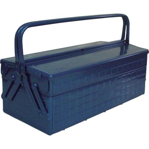 取寄 GL-470-B 2段式工具箱 472×220×289 ブルー TRUSCO(トラスコ) ブルー 1個