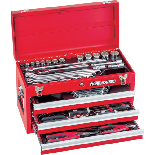 TSS450 TSS450 ツールセット TONE ケース寸法(mm)間口×奥行×高さ:508×232×302引出し内寸法(mm)間口×奥行×高さ 1セット