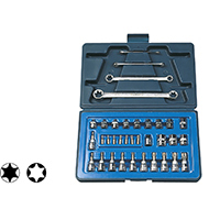 取寄 12835 9.5sq.(3/8DR) ヘクスローブソケットセット 35PC SIGNET(シグネット) 1セット