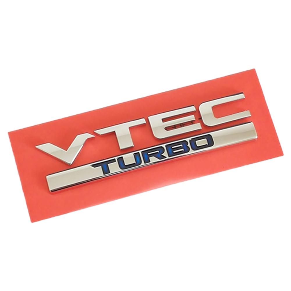 VTEC TURBO ファッション通販 エンブレム 縦 2.5cm x 横 10.5cm GENUINE 純正 輸出仕様 ホンダ セール品 PARTS HONDA クリックポスト送付