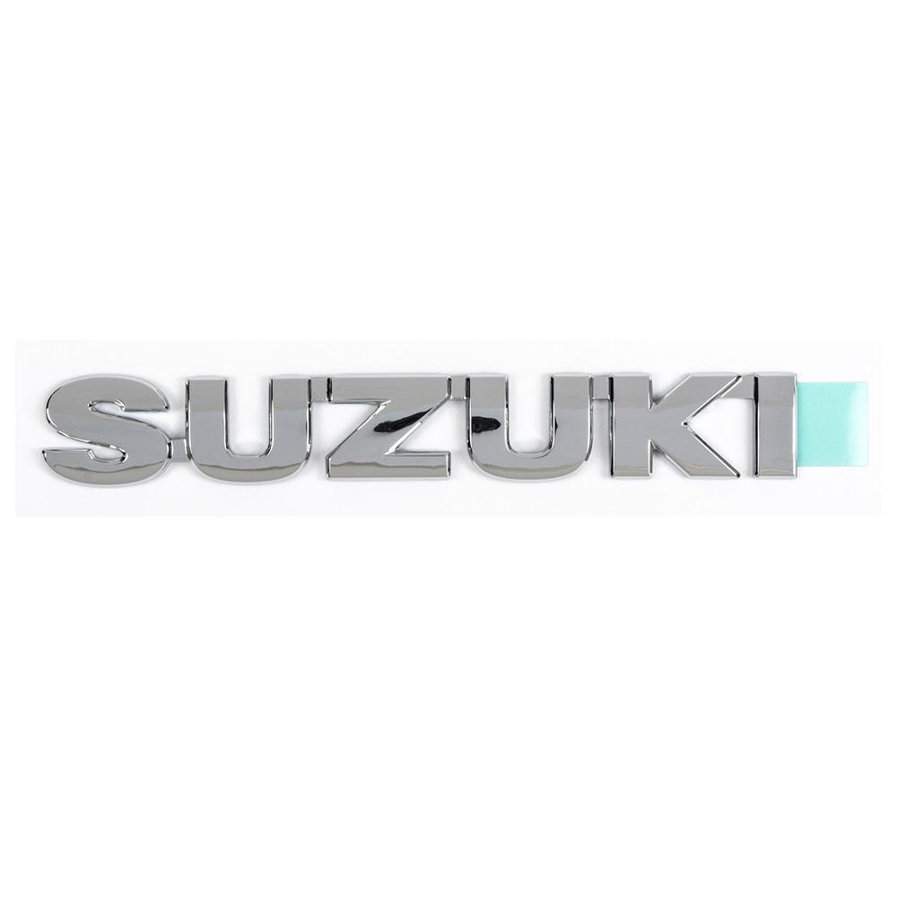 通信販売 SUZUKI エンブレム 縦 2.3cm x 横 15.3cm GENUINE 輸出仕様 純正 スズキ 毎日続々入荷 海外 PARTS クリックポスト送付