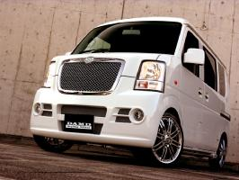 DAMD damudoearosuzuki EVERY(每个)DA64W/64V Styring Effect Concept B TYPE2 FRONT BAMPER+FRONT GRILLE(a)未涂抹