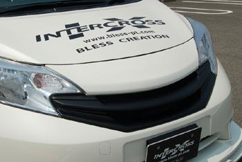 【ブレス】ノート E12 フロントグリル 標準タイプ/カメラ無し車用 塗装済 K23:ブリリアントシルバー