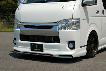 【ブレス】ハイエース 200系 4型 標準ボディ フロントリップスポイラー 未塗装