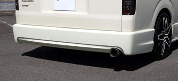 【ブレス】ハイエース ワイド リヤバンパーVer.3ワゴン車用(シングルマフラー用)