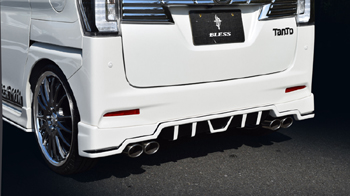 リアアンダー / ディフューザー【ブレス】タントカスタム LA600S リアアンダースポイラー 塗装済 パールホワイト3 W24