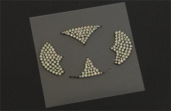 【バタフライシステム】CRYSTAL GLASS ITEM オーバルエムブレム(L)用クリスタル ブラック