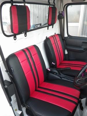 シートカバー【GTカープロデュース】スポーツシートカバー キャリイ(DA63T)10型用 標準色(赤)