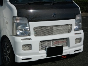 フロントバンパー【GTカープロデュース】フロントエアロバンパー キャリイ(DA63T)用