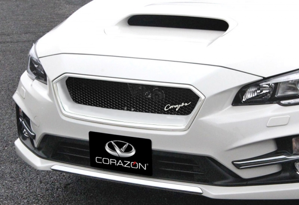 レヴォーグ   フロントグリル【コラゾン】レヴォーグ VM4/VMG C型 STiスポーツ フロントグリルタイプS FRP ダイヤモンドネット ラピスブルーパール