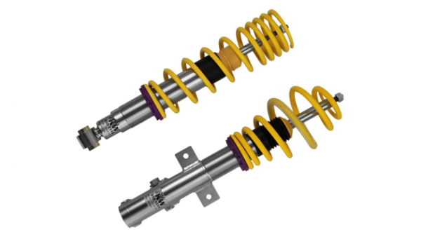 【カーヴェー】KW (カーヴェー) COILOVER Version-2 [ 減衰力伸び側調整式 ] AUDI アウディ A3; (8V)電子制御式ダンパー無し 【 05/12y- 】 Sportback 含む;FF フロントストラット径/55mm; リアマルチリンクサスペンション (許容耐荷重F981-1075/R:-990)