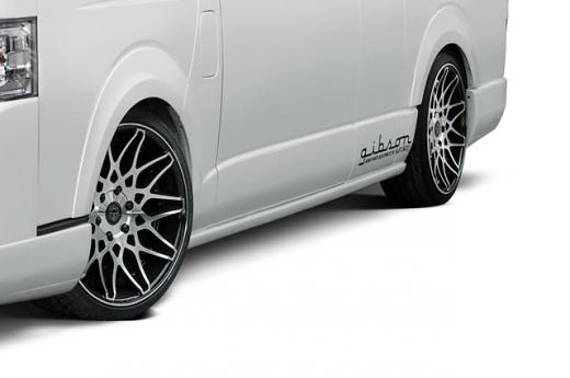 サイドステップ【ギブソン】ハイエース 200系 1-4型 スーパーロング ハイルーフ サイドステップ 4ドア 塗装済 (1E2) ダークグレーマイカメタリック