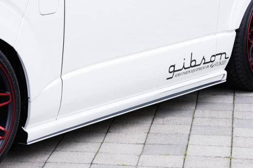 サイドステップ【ギブソン】ハイエース 200系 1-4型 標準ボディ グラファム・サイドステップ 塗装済 [070]ホワイトパール 塗分け無