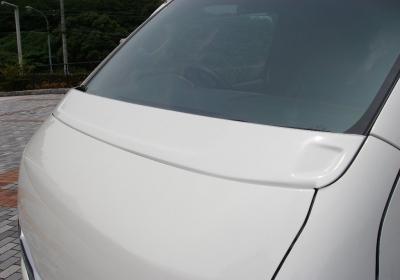ボンネットスポイラー【ギブソン】ハイエース 200系 1-4型 ワイドボディ ミドル ワイパーガーニッシュ [209]ブラックマイカ