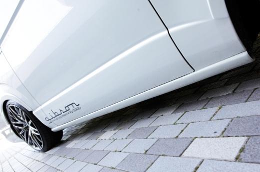 サイドステップ【ギブソン】ハイエース 200系 1-4型 ワイドボディ ミドル サイドステップ [058]ホワイト 5ドア