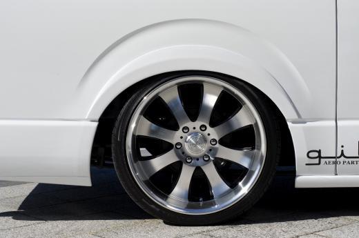 オーバーフェンダー / トリム【ギブソン】ハイエース 200系 1-4型 ワイドボディ ミドル ブラインドフェンダー ver.1 (F&R) [058]ホワイト