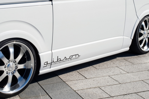 サイドステップ【ギブソン】ハイエース 200系 1-4型 標準ボディ サイドステップ 未塗装 5ドア