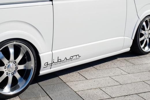 サイドステップ【ギブソン】ハイエース 200系 1-4型 標準ボディ サイドステップ [058]ホワイト 4ドア