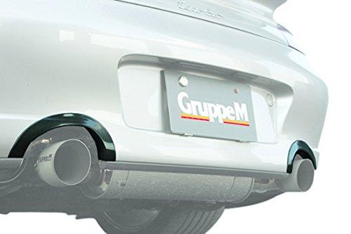 【グループエム】PORSCHE 996ターボ,C4S 用 マフラーエンドカバー (カーボン) MFCC-996T
