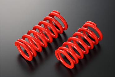 スプリング【エンドレス】X COILS PLUS 直巻形状スプリング   【内径ID:65mm】 【自由長:229mm】 【レート:5kg/mm】 【密着長:107mm】 【有効ストローク:98mm】1本