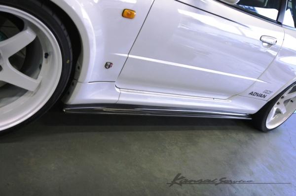 【Kansaiサービス】SKYLINE GT-R スカイライン カーボンサイドステップ&リアアンダースポイラーSet BNR34