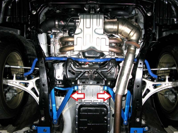 フロアサポート / メンバーサポート【クスコ】ボディ補強パーツ パワーブレース 687 492 F スバル レガシィ ツーリングワゴン BR9