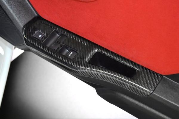 S660 | コンソールパネル【アールエスダブリュ】S660 ウィンドゥスイッチパネル(左右セット)綾織ブラックカーボン製