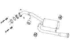 【フジツボ】マフラー オーソライズS(AUTHORIZE S) (マツダ プレマシー、CWFFW プレマシー スカイアクティブ 2.0 2WD [H25.01~、DBA-CWFFW、PE-VPS]) 【 i-stop装備(LF-VDS)車共通 | 84φラウンドスプレッド 】