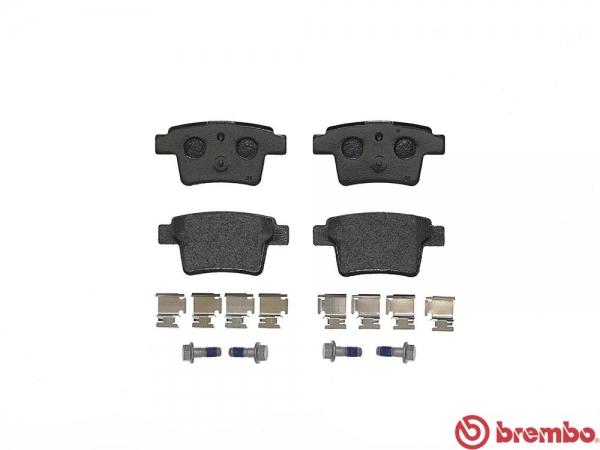 【ブレンボ】ブレーキパッド JAGUAR/DAIMLER X TYPE [ J51YA J51YB ][ 04/09~ ][ REAR ] 【 レッド | 【注10】/車台No.E24054→/《グレード》2.0 V6 (2.1) | 幅:101.7 mm 厚さ:16.3 mm 高さ:50.4 mm 】