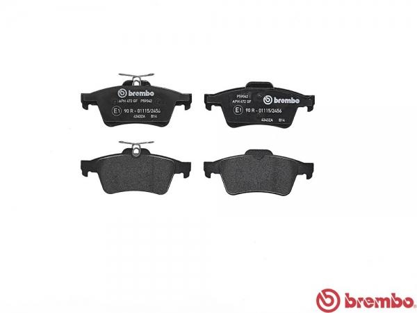【ブレンボ】ブレーキパッド JAGUAR/DAIMLER XF [ J051A ][ 07/11~09/06 ][ REAR ] 【 セラミック   《グレード》4.2 SV8 (Supercharger) 】