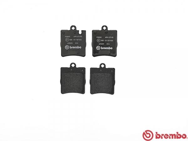 【ブレンボ】ブレーキパッド MERCEDES BENZ W203 (SEDAN) [ 203040 ][ 04/06~05/08 ][ REAR ] 【 レッド | Sport Package/車台No.→F583910/R150814/《グレード》C230 Kompressor 1.8 】
