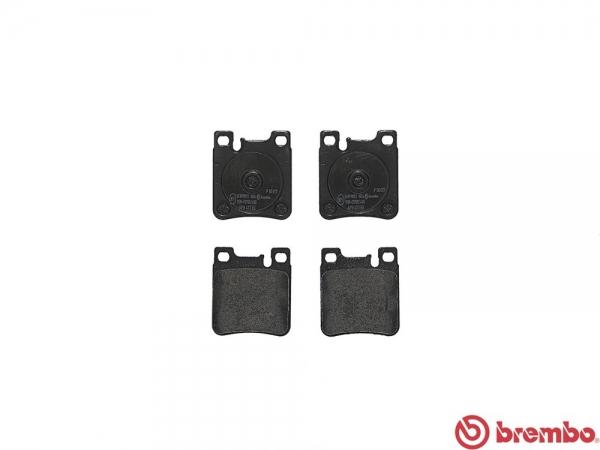 【ブレンボ】ブレーキパッド MERCEDES BENZ W124 (SEDAN) [ 124036 ][ 91~95/6 ][ REAR ] 【 レッド | 車台No.B927761→/《グレード》500E/E500 (ヨーロッパ並行車) 】