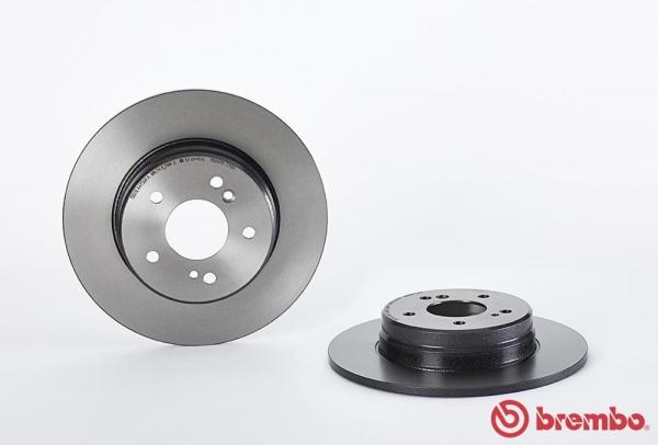 【ブレンボ】ブレーキローター MERCEDES BENZ W210 (SEDAN) [210061][97/9~99/7][REAR] 【 【シリーズ】□/ESP付/《グレード》E240 2.4 (車台?→A962231) 】