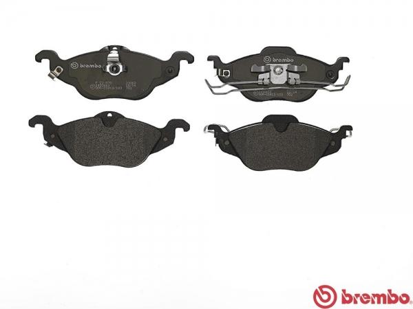 【ブレンボ】ブレーキパッド OPEL ASTRA (XK系) [ XK160 XK161 ][ 99~01/09 ][ FRONT ] 【 ブラック | 【注4】/リヤキャリパーBOSCH製/《グレード》1.6 16V 】