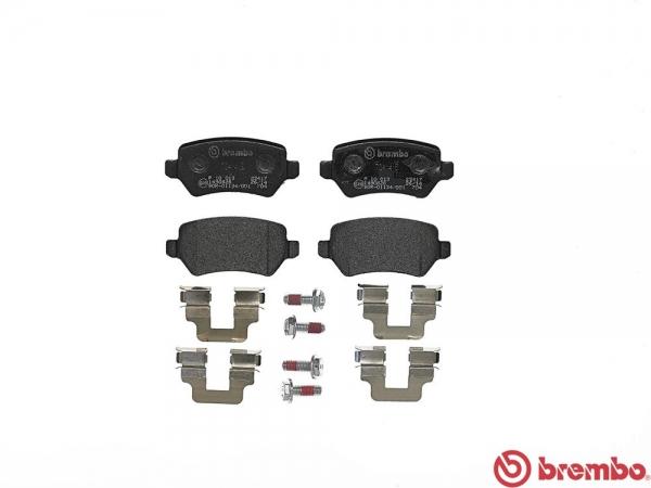 【ブレンボ】ブレーキパッド OPEL ASTRA (XK系) XK180 XK181 01/09~04 REAR ブラック 注4 /車台番号22000001→(ABS付)/リヤキャリパーLUCAS製/《グレード 1.8 16V