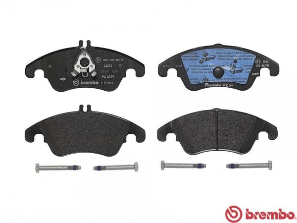 【ブレンボ】ブレーキパッド MERCEDES BENZ W218 Shooting Brake [ 218901C ][ 15/03~ ][ FRONT ] 【 レッド | 《グレード》CLS220d 】