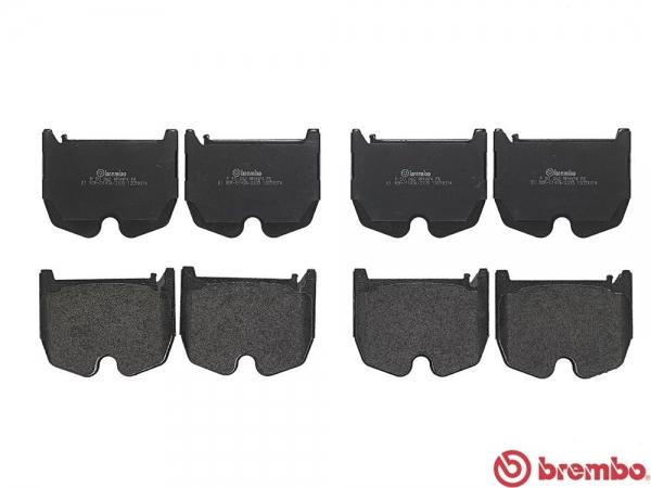 【ブレンボ】ブレーキパッド MERCEDES BENZ W211 (SEDAN) [ 211076 ][ 02/12~06/07 ][ FRONT ] 【 レッド | Front 8POT フロント・ウェアセンサー 左右輪装着車/《グレード》AMG E55 】