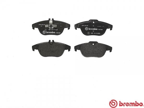 【ブレンボ】ブレーキパッド MERCEDES BENZ W204 (WAGON) [ 204249 ][ 11/10~ ][ REAR ] 【 レッド | Option AMG Sport Package 含む/《グレード》C180 】