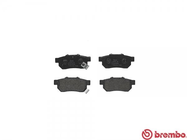 【ブレンボ】ブレーキパッド HONDA アコード エアロデッキ [ CA2 ][ 85/6~89/9 ][ REAR ] 【 レッド | Rear DISC 】