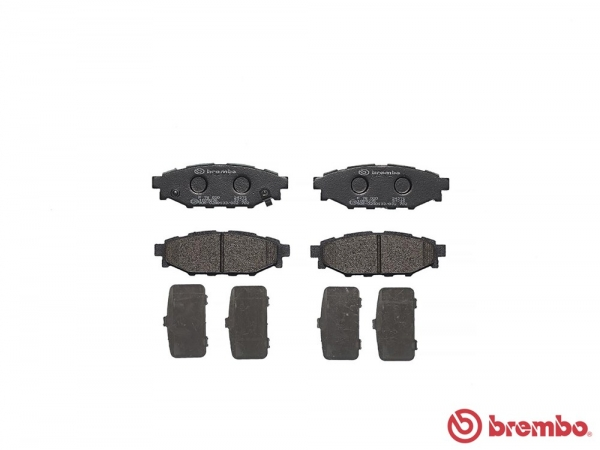 【ブレンボ】ブレーキパッド SUBARU エクシーガ [ YA9 ][ 08/06~10/04 ][ REAR ] 【 ブラック 】