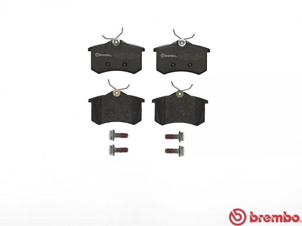 【ブレンボ】ブレーキパッド AUDI A3 (8L) [ 8LAGU 8LAUQ ][ 98/1~03/08 ][ REAR ] 【 ブラック | 《グレード》1.8 TURBO (FF) 】
