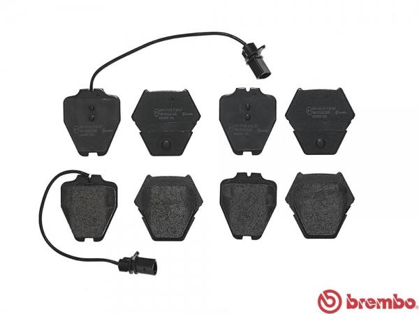 【ブレンボ】ブレーキパッド AUDI A8 4D 4DAEW 4DABZ 4DAQF 4DAUW 95~04 フロント レッド 車台番号4D_X_005001→ グレード 3.7 FF / 4.2 QUATTRO