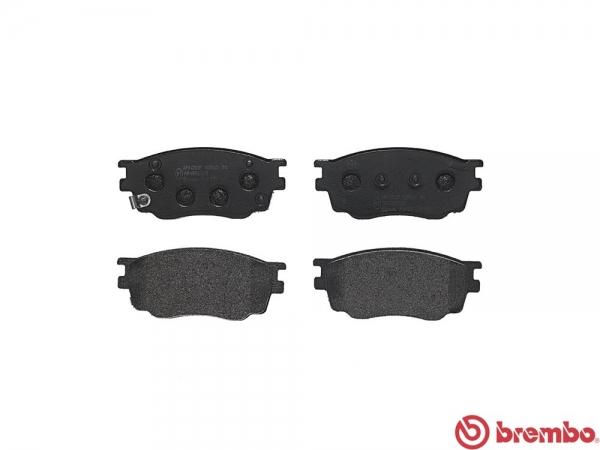 【ブレンボ】ブレーキパッド MAZDA アテンザ セダン [ GG3P ][ 02/05~08/01 ][ FRONT ] 【 ブラック | 16inch 標準車 (Fr.274mm DISC) 】