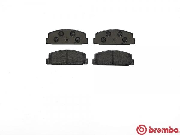 【ブレンボ】ブレーキパッド MAZDA ファミリア ワゴン [ BJ5W ][ 98/4~03/10 ][ REAR ] 【 ブラック | 4WD 】