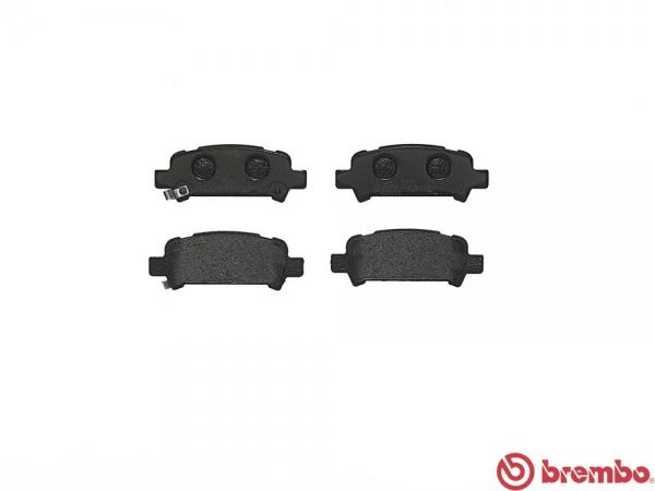 【ブレンボ】ブレーキパッド SUBARU レガシィ セダン (B4) [ BL5 ][ 03/06~09/05 ][ REAR ] 【 ブラック | 2.0GT/spec・B 】