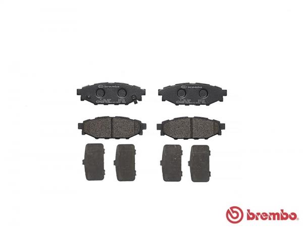 【ブレンボ】ブレーキパッド SUBARU レガシィ アウトバック [ BR9 ][ 09/06~10/04 ][ REAR ] 【 レッド   2.5i / 2.5i/L Package A型 】