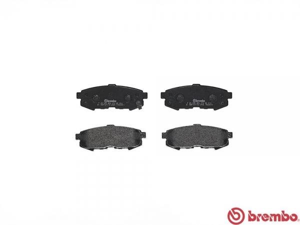 【ブレンボ】ブレーキパッド MAZDA MPV [ LW3W LWFW ][ 02/04~06/02 ][ REAR ] 【 セラミック | Rear DISC 】