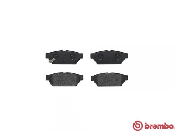 【ブレンボ】ブレーキパッド MITSUBISHI ミラージュ アスティ [ CA4A ][ 91/9~95/10 ][ REAR ] 【 レッド 】