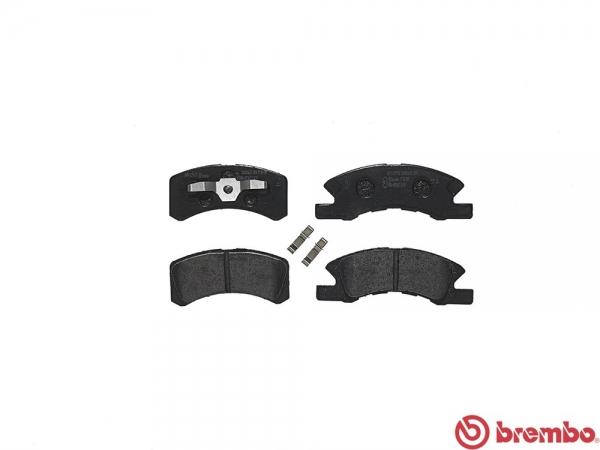 【ブレンボ】ブレーキパッド MITSUBISHI タウンボックス / タウンボックス ワイド [ U65W U66W ][ 00/10~ ][ FRONT ] 【 レッド | ABS付 】